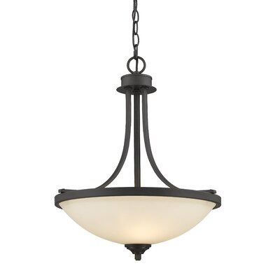 Beegle 3-Light Bowl Pendant Color: Bronze