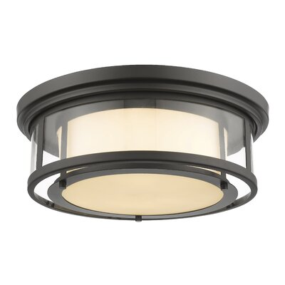 Luna 3-Light Flush Mount Finish: Bronze