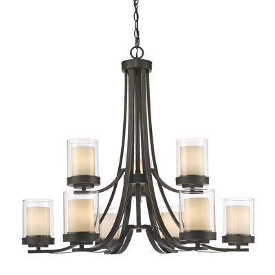 Cheyne 9-Light Candle-Style Chandelier Finish: Olde Bronze