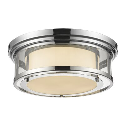Ceniceros 3-Light Flush Mount Finish: Chrome