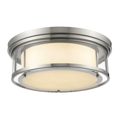 Ceniceros 4-Light Flush Mount Finish: Brushed Nickel