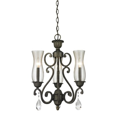 Melina 3-Light Candle-Style Chandelier Finish: Golden Bronze