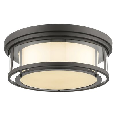 Luna 4-Light Flush Mount Finish: Bronze