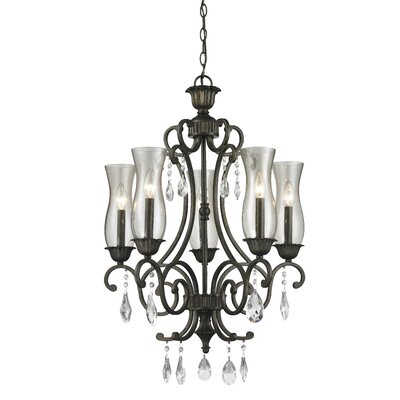 Melina 5-Light Candle-Style Chandelier Finish: Golden Bronze