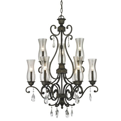 Guernsey 9-Light Candle-Style Chandelier Finish: Golden Bronze