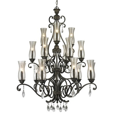 Guernsey 18-Light Candle-Style Chandelier Finish: Golden Bronze