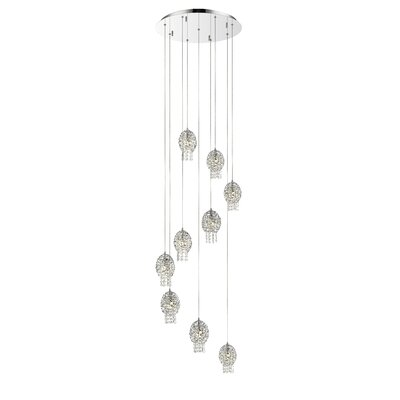 Nabul 9-Light Cascade Pendant