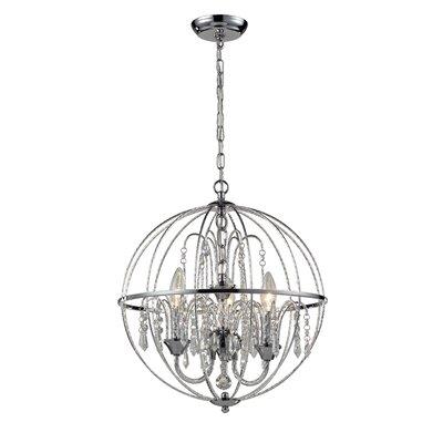 Laia 3-Light Globe Pendant Size: 18.5 H x 16 W x 16 D