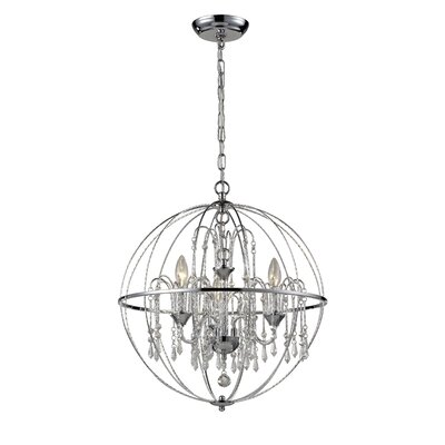 Laia 3-Light Globe Pendant Size: 22 H x 20 W x 20 D