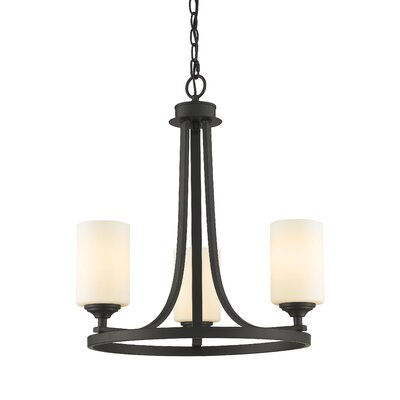 Beegle 3-Light Shaded Chandelier Color: Bronze