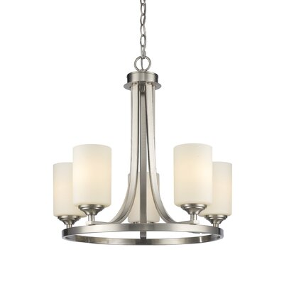 Beegle 5-Light Shaded Chandelier Color: Brushed Nickel