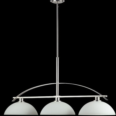Ellipse 3-Light Kitchen Island Pendant Finish: Chrome