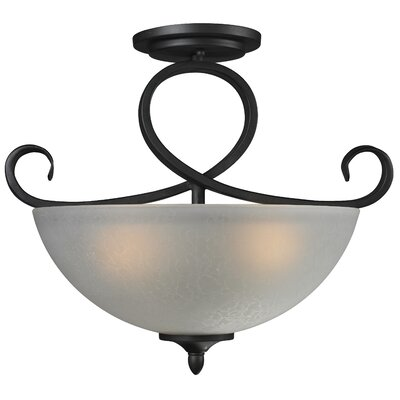 Arshe 3-Light Semi-Flush Mount