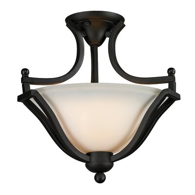 Weyer 2-Light Semi-Flush Mount Finish: Matte Black