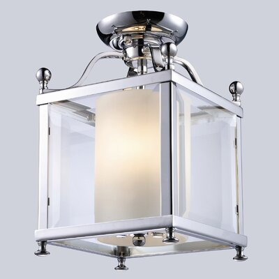 Fairview 3-Light Semi Flush Mount Size / Finish: 14 H x 11 W / Chrome