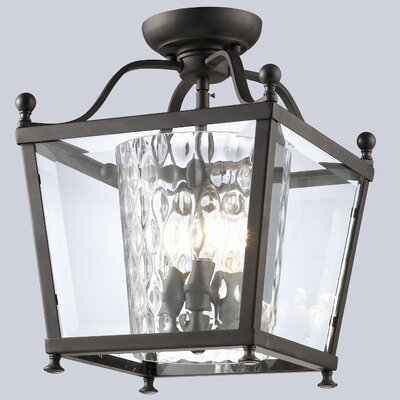 Ashbury 3-Light 60W Semi Flush Mount Size: 14 H x 10.88 W