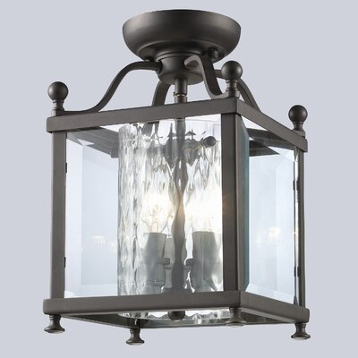 Fairview 3-Light Semi Flush Mount Size / Finish: 12.5 H x 8.25 W / Bronze