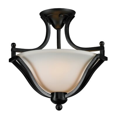 Lagoon 2-Light Semi-Flush Mount Finish: Bronze
