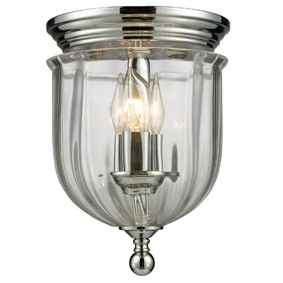 Dyer Avenue 3-Light Flush Mount Finish: Chrome
