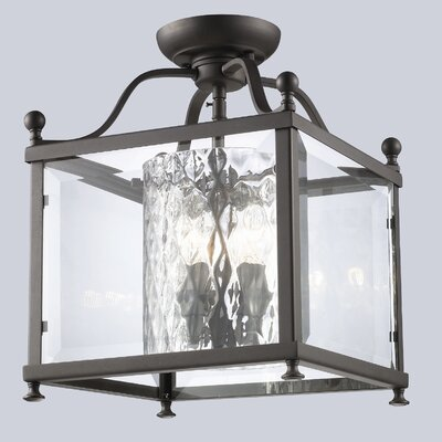 Fairview 3-Light Semi Flush Mount Size / Finish: 14 H x 11 W / Bronze