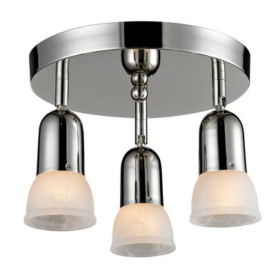 Moises 3-Light Semi-Flush Mount Finish: Chrome
