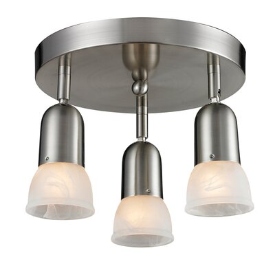 Moises 3-Light Semi-Flush Mount Finish: Brushed Nickel