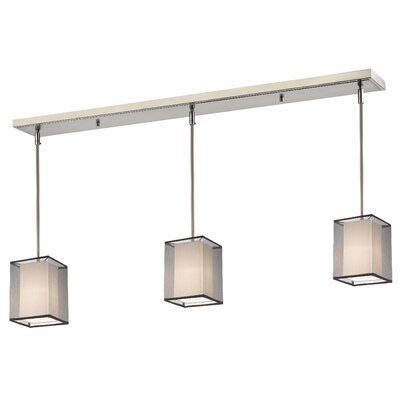 Fleckenstein 3-Light Kitchen Island Pendant Shade Color: Black/Super White