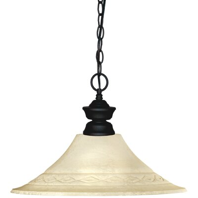 Shark 1-Light Mini Pendant Finish: Matte Black