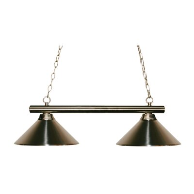 Sharp Shooter 2-Light Billiard Light Shade Color: Brushed Nickel