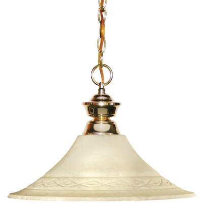 Chapa 1-Light Mini Pendant Finish: Polished Brass