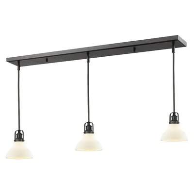 Forge 3-Light Kitchen Island Pendant Finish: Bronze