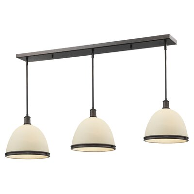 Marquise 3-Light Pool Table Light Finish: Olde Bronze, Size: 13 H x 55 W x 13 D
