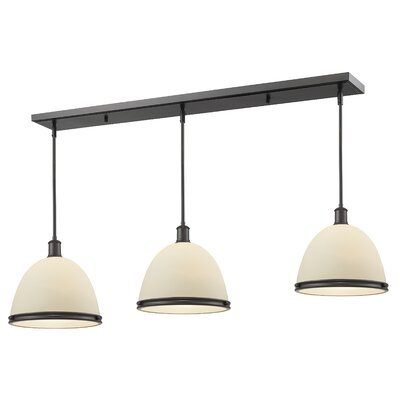 Marquise 3-Light Pool Table Light Finish: Bronze, Size: 9.75 H x 50 W x 8 D