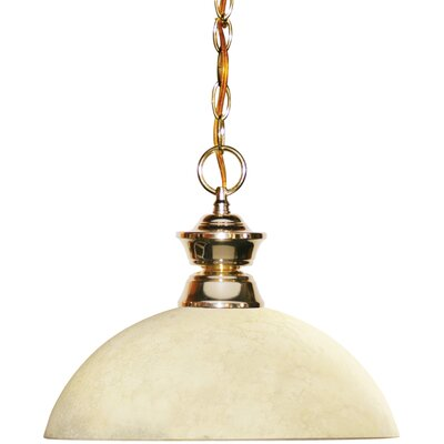 Chapa 1-Light Bowl Pendant Finish: Polished Brass