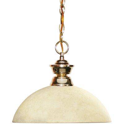 Shark 1-Light Bowl Pendant Finish: Polished Brass
