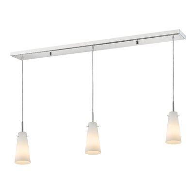 Monte 3-Light Kitchen Island Pendant Finish: Chrome