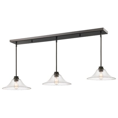 Clayton 3-Light Metal Kitchen Island Pendant Finish: Olde Bronze