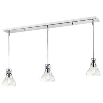 Lindley 3-Light Kitchen Island Pendant Finish: Chrome