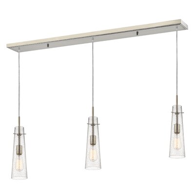 Monte 3-Light Kitchen Island Pendant Finish: Brushed Nickel
