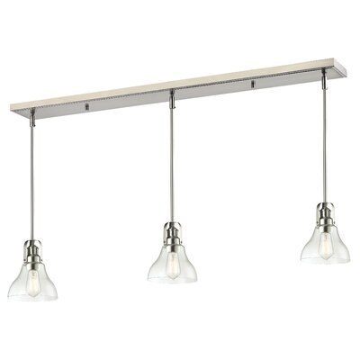 Forge 3-Light Kitchen Island Pendant Finish: Brushed Nickel