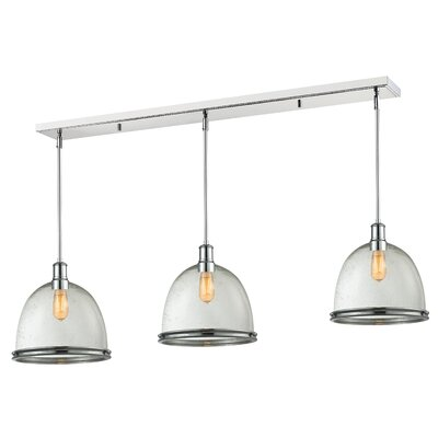 Marquise 3-Light Pool Table Light Finish: Chrome, Size: 14 H x 55 W x 13 D