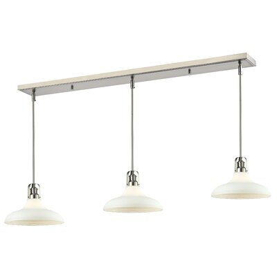 Forge 3-Light Pool Table Light Finish: Brushed Nickel