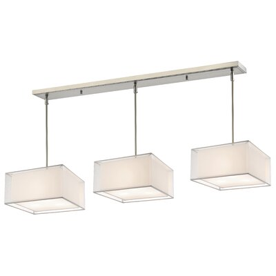 Sedona 9-Light Kitchen Island Pendant Shade Color: White/ Super White