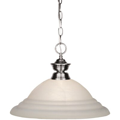 Shark 1-Light Mini Pendant Finish: Brushed Nickel