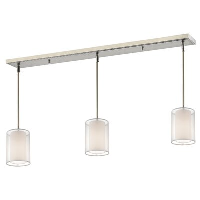 Fleckenstein 3-Light Kitchen Island Pendant Shade Color: White/ Super White