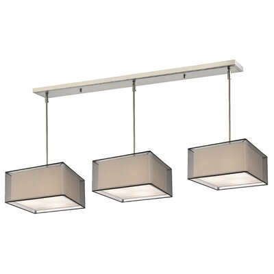Fleckenstein 9-Light Kitchen Island Pendant Shade Color: Black/Super White