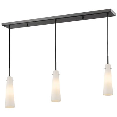 Monte 3-Light Kitchen Island Pendant Finish: Bronze