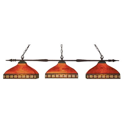 Aztec 3-Light Pool Table Light Shade Color: Red