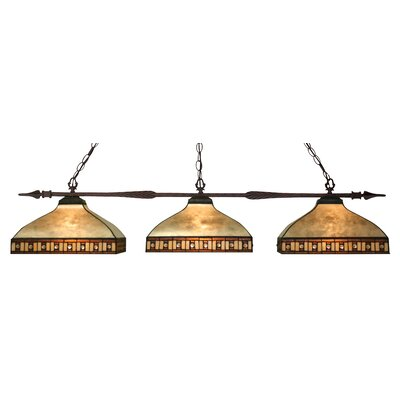 Aztec 3-Light Pool Table Light Shade Color: Beige