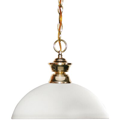 Shark 1-Light Bowl Pendant Finish: Polished Brass